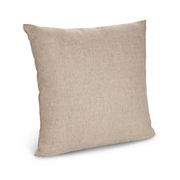 Hettie Herringbone Beige Cushion