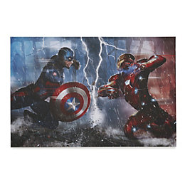 Captain America: Civil War Multicolour Canvas Art (W)90cm