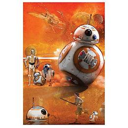 Star Wars: The Force Awakens Bb-8 Orange Canvas