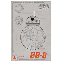 Star Wars: The Force Awakens Bb-8 Tech Drawing