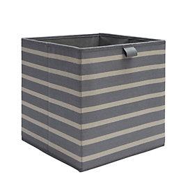 Form Mixxit Anthracite Stripe Storage Basket (W)310mm