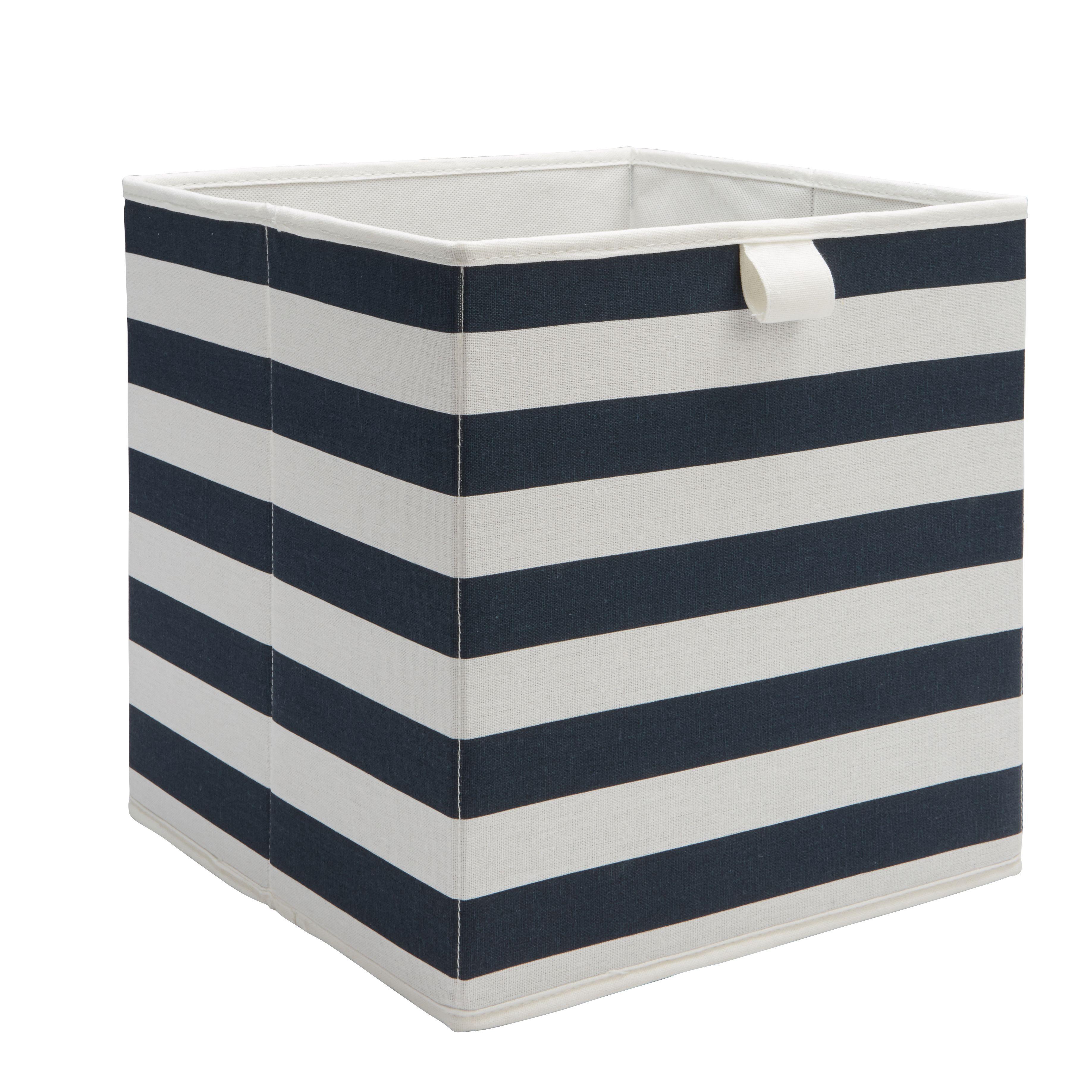 Form Mixxit Navy Striped Storage Basket (w)310mm