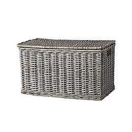 Foldable Grey Willow Storage Chest
