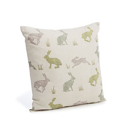 Clementina Bunnies Cream & Green Cushion