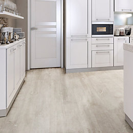 White Natural Oak Effect Waterproof Luxury Vinyl Click