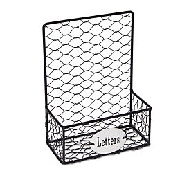 Black Chicken Wire Letter Holder