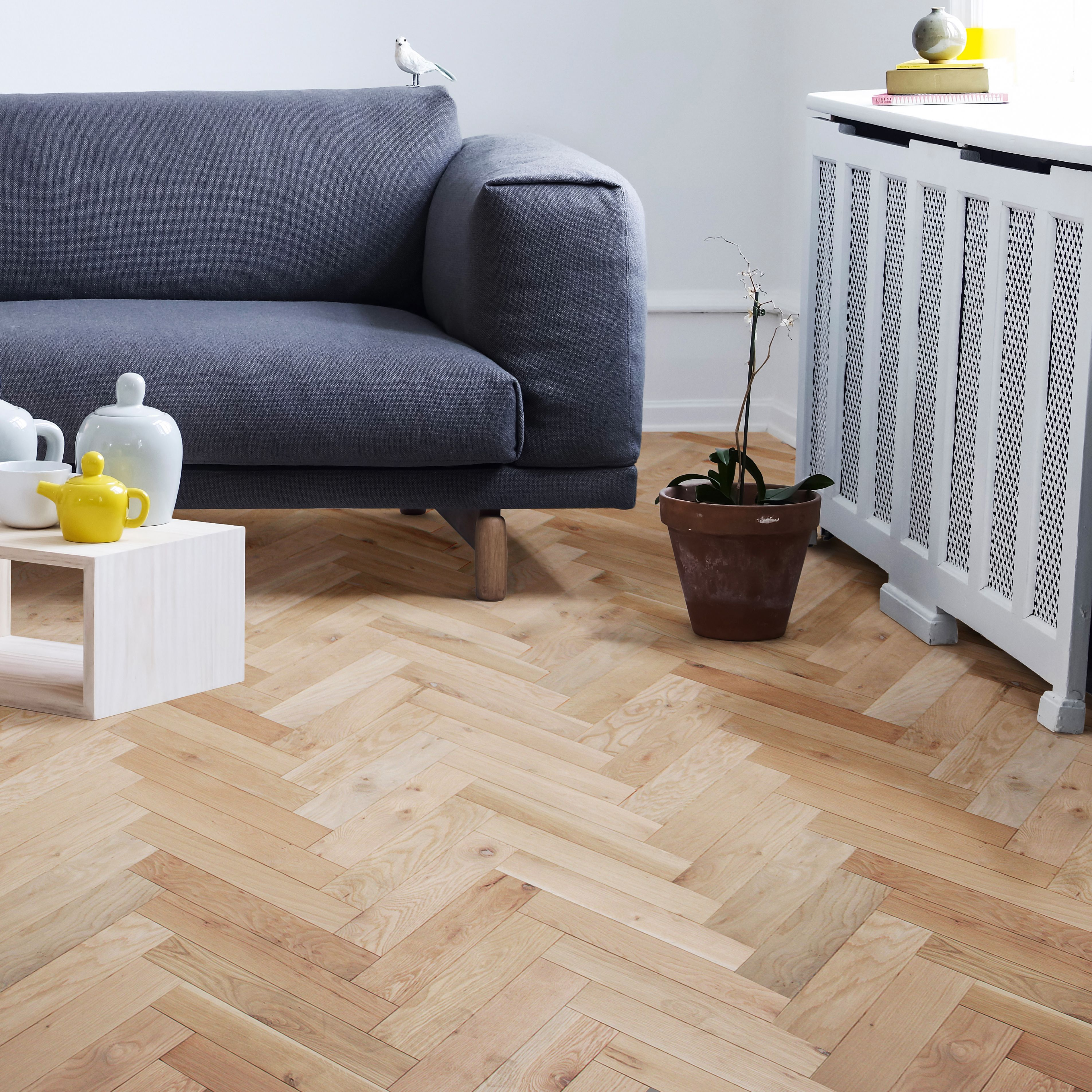 Colours Harmony Natural Solid Oak Flooring Oak Effect 1.458 M² Pack