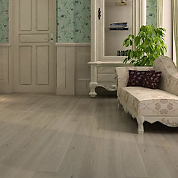 Harmony Unfinished Solid Oak Flooring 1.008 m² Pack