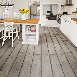 Grey Washed Wood Effect Waterproof Luxury Vinyl Click