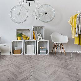 Natural Oak Effect Waterproof Luxury Vinyl Click Flooring