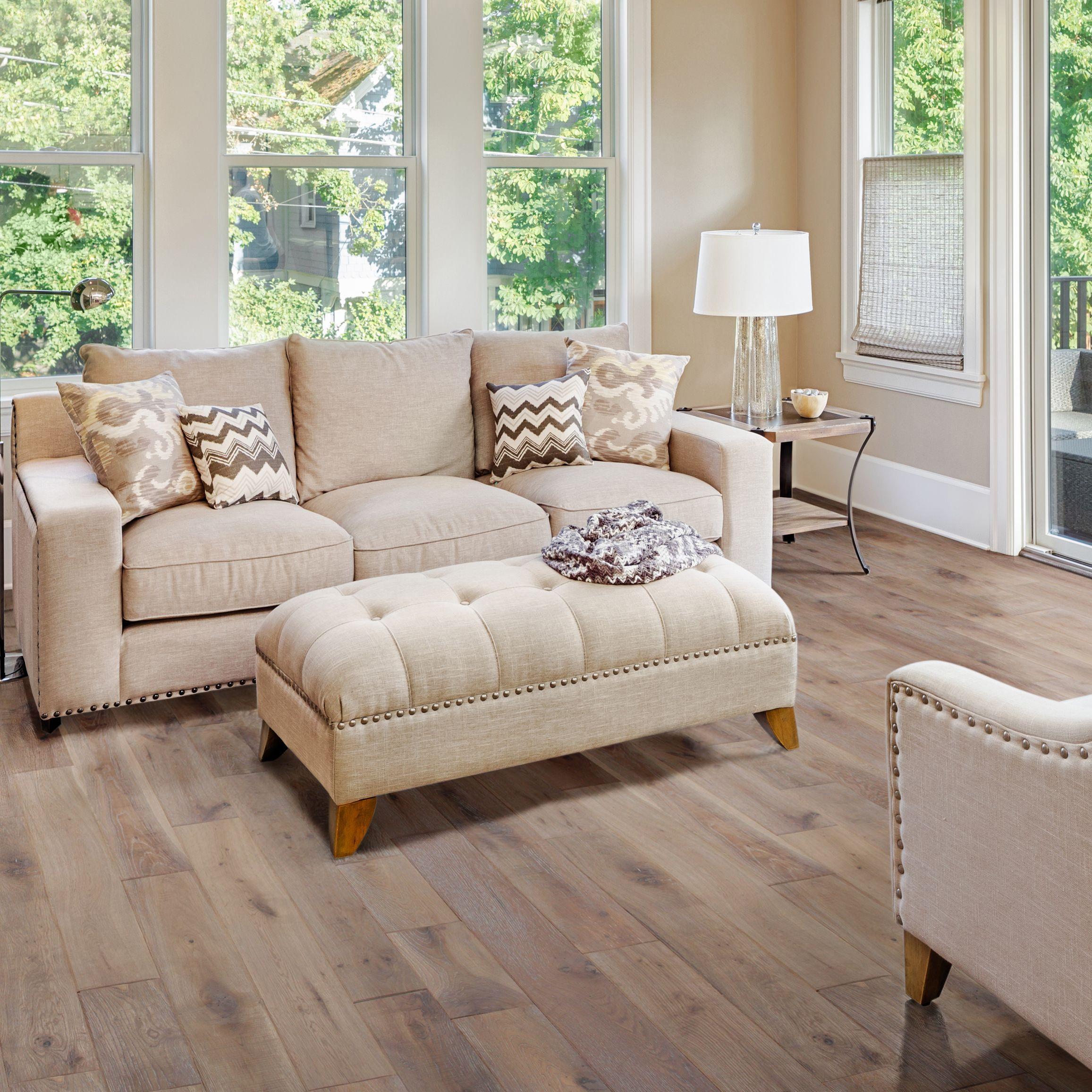 Colours Soren Antique Ash Solid Oak Flooring Sample Oak Effect 0.37 M²