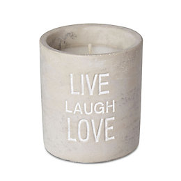 Live Laugh Love Concrete Vanilla Jar Candle