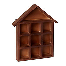 Wood House Storage Box