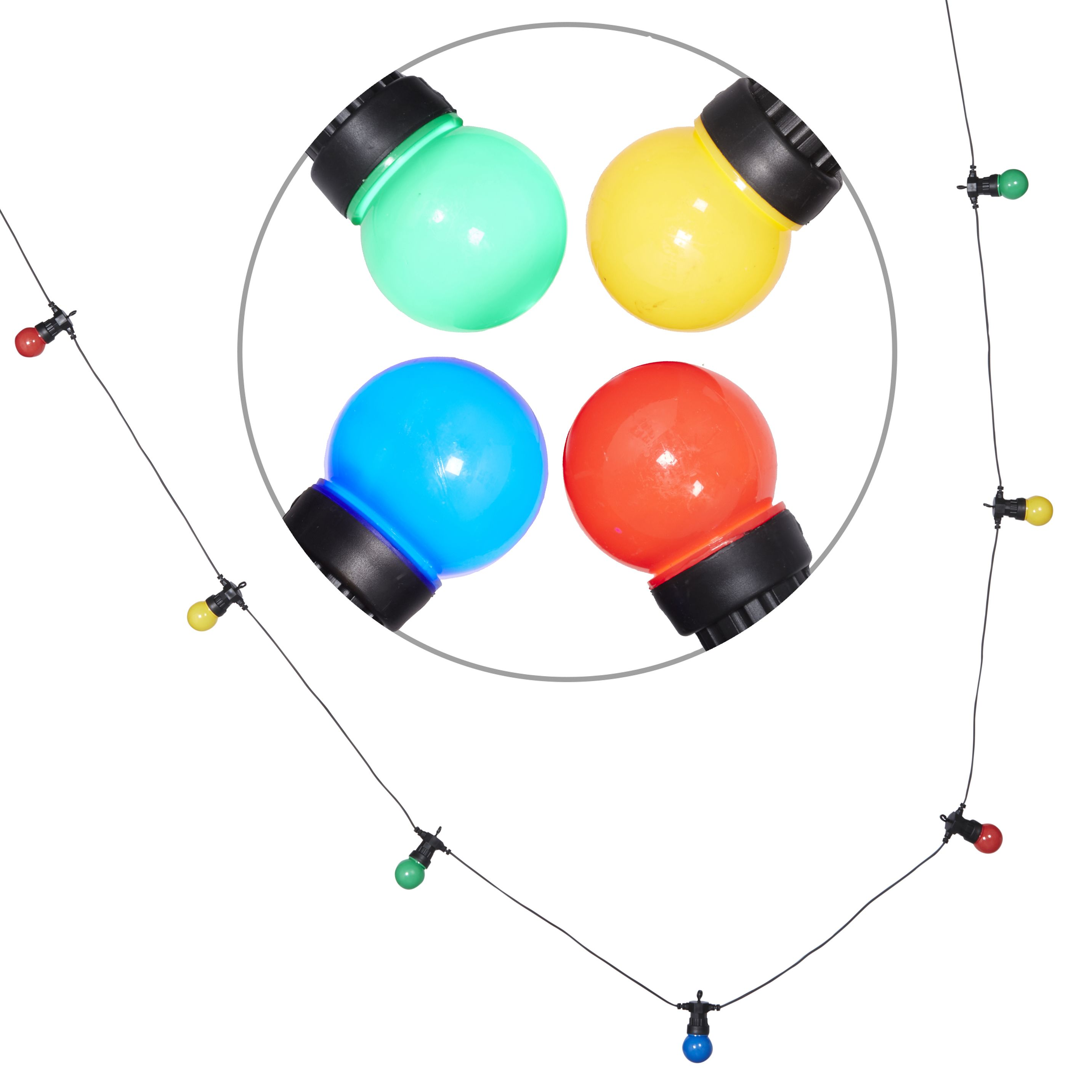 Blooma Chadwick Mains Powered Multicolour 10 LED String ...