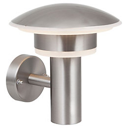 Blooma Corvus Brushed Stainless Steel Silver Mains Powered