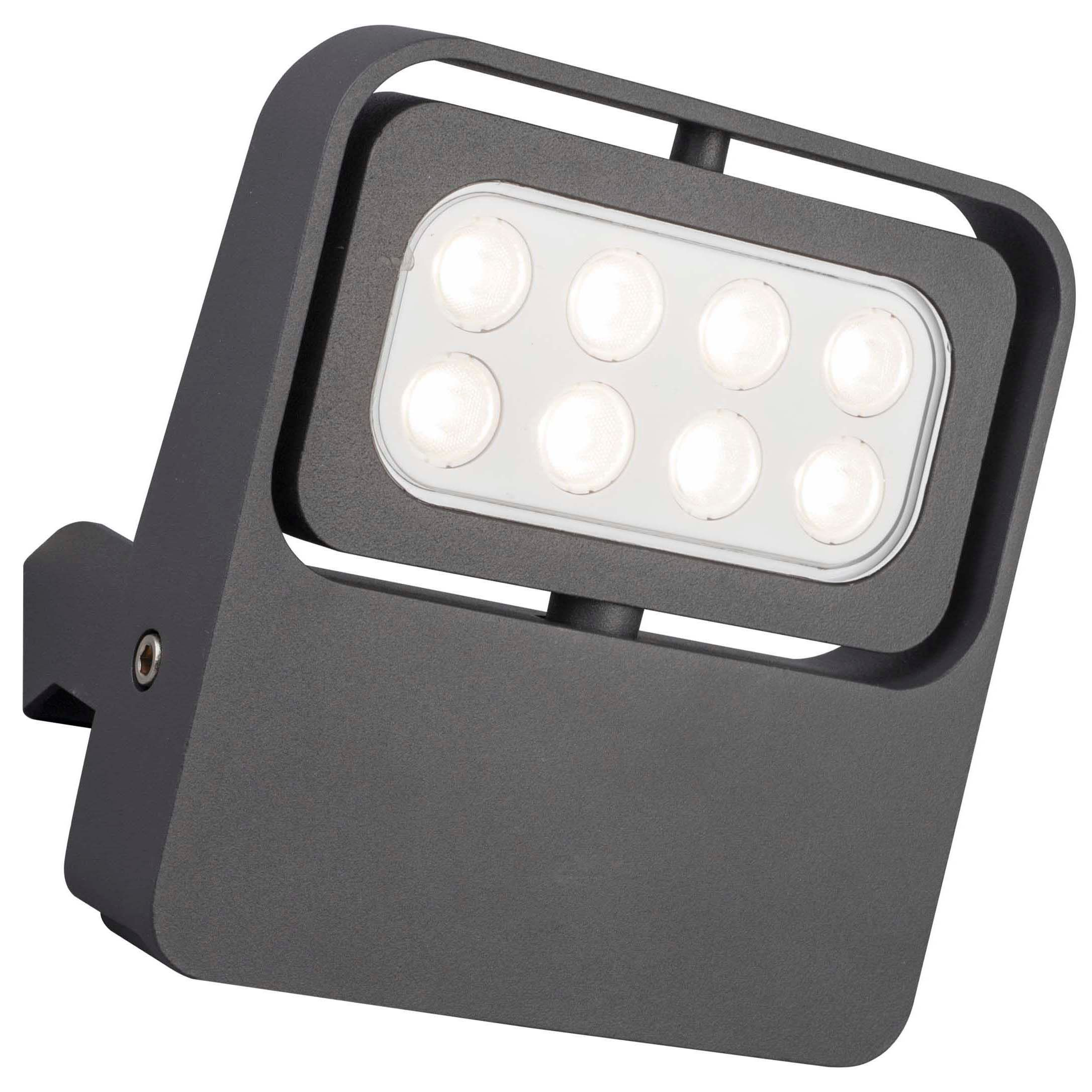 Diy at bq blooma bohm grey 9w mains powered external security flood light cheapraybanclubmaster Image collections