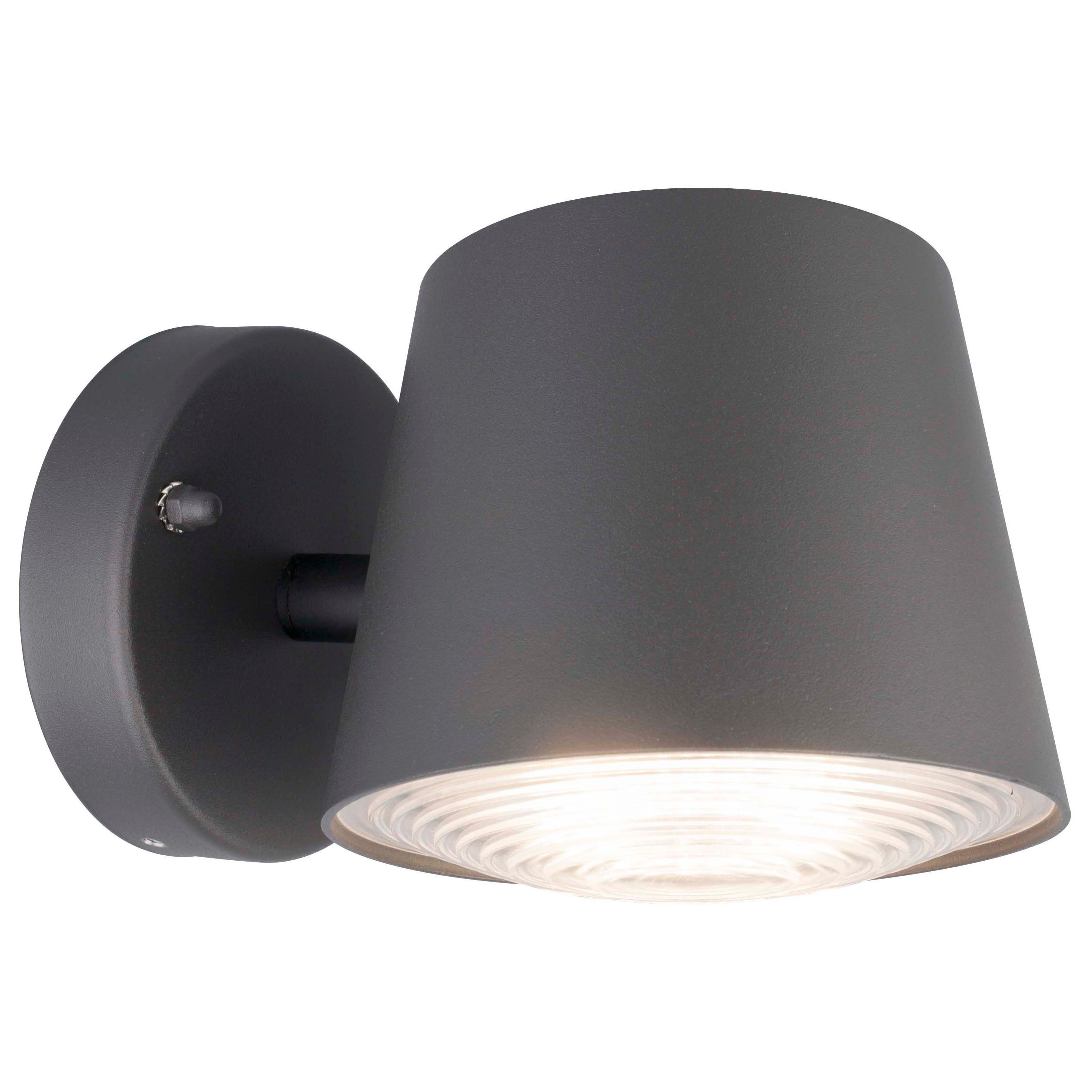 Blooma Barba Dark Grey Mains Powered External Wall Light