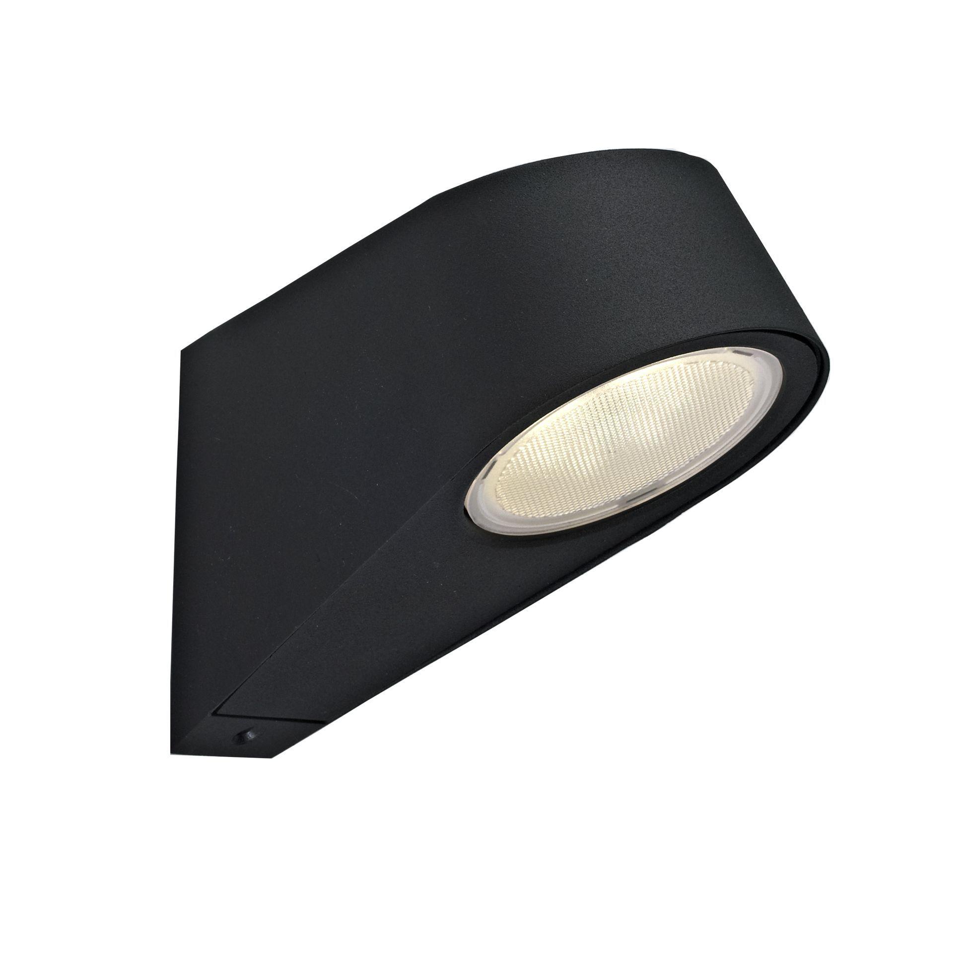 Blooma Santos Black Mains Powered External Wall Light