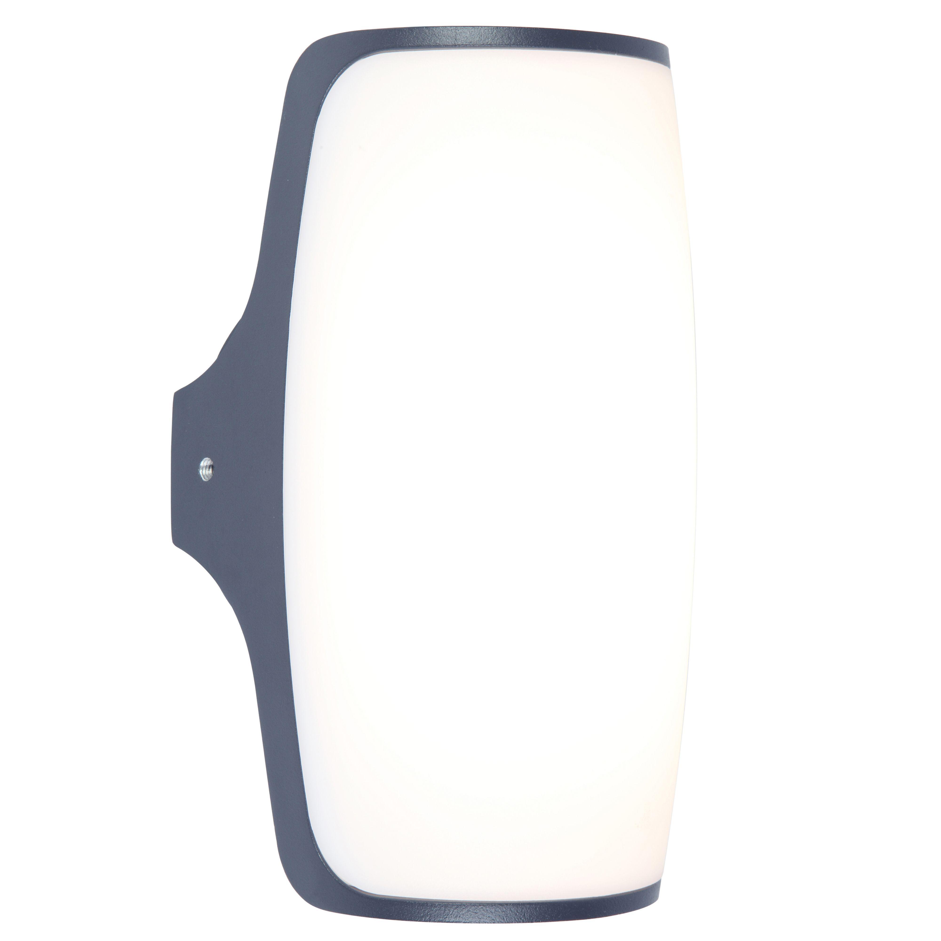 Blooma Ixion Dark Grey Mains Powered External Wall Light