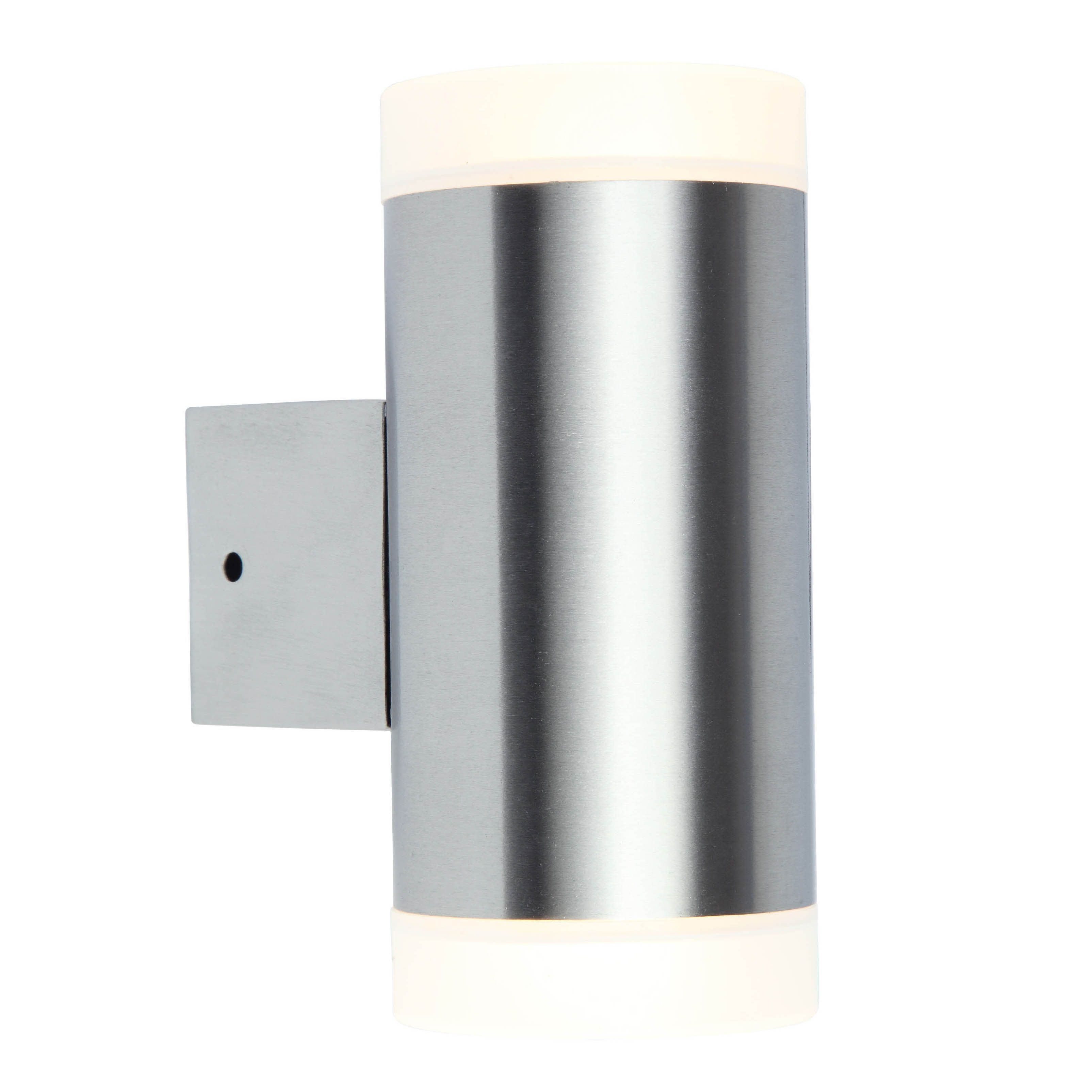 Blooma Robigo Stainless Steel Silver Mains Powered External Wall Light