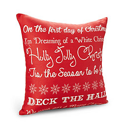 Laken Festive Writing Red Cushion