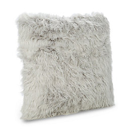 Abelie Faux Fur Light Grey Cushion