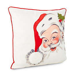 Eirine Santa White & Red Cushion