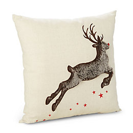 Camari Reindeer Brown Cushion