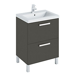 Cooke & Lewis Romana Matt Grey Vanity Unit