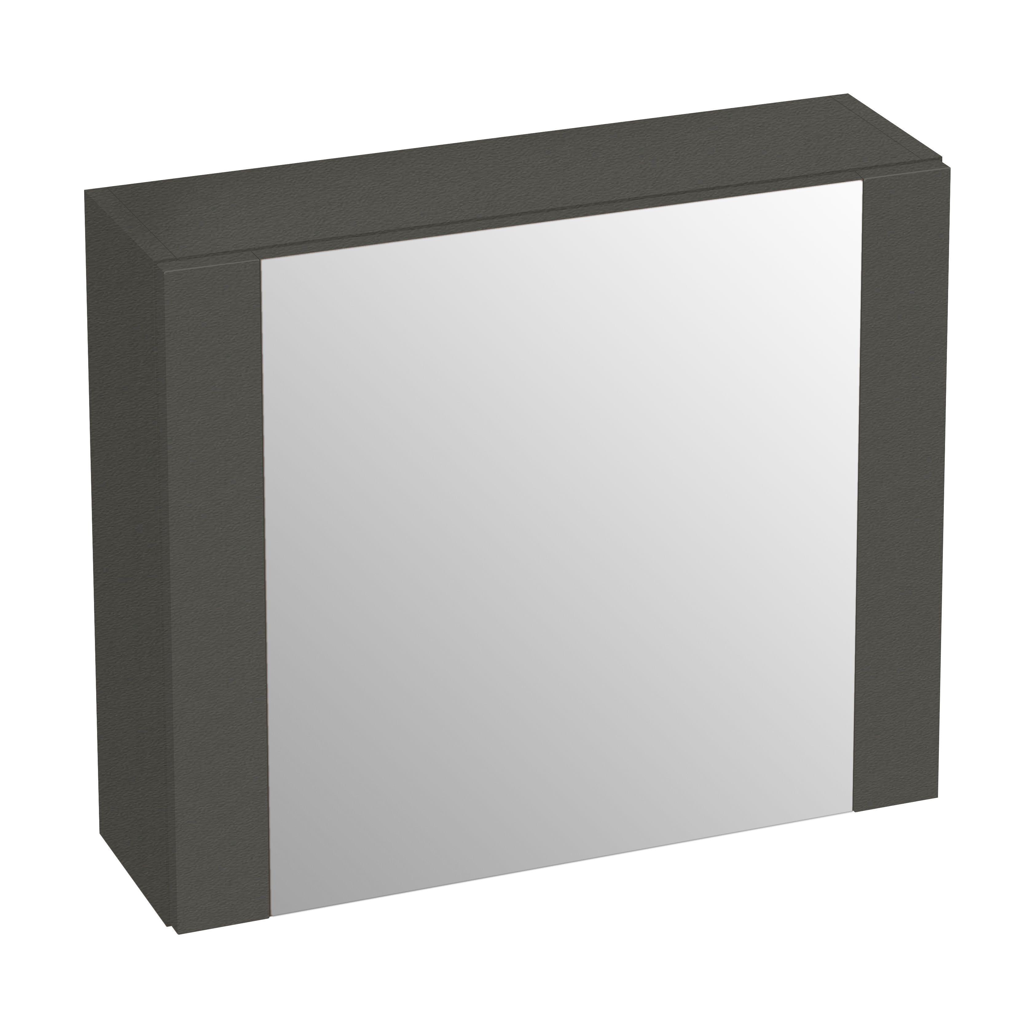 cooke lewis romana single door grey matt medium mirror cabinet
