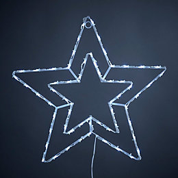LED Twinkling Star Silhouette