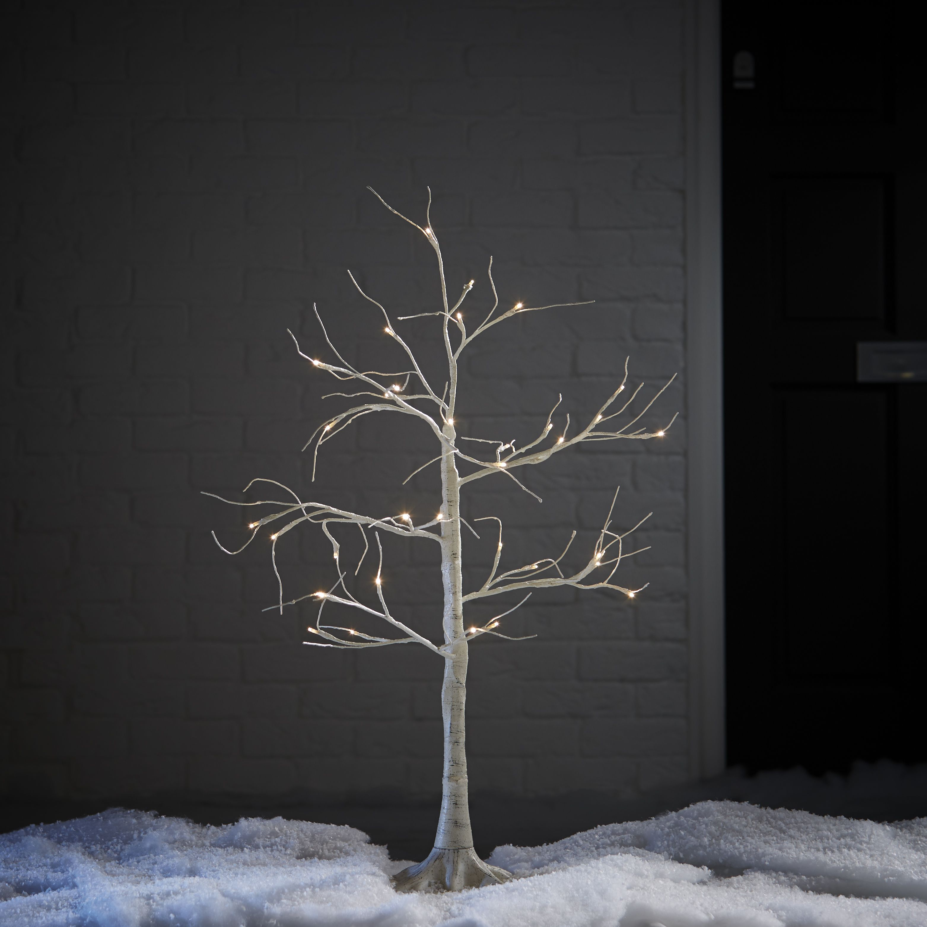 3ft White Birch Pre-Lit Christmas Tree