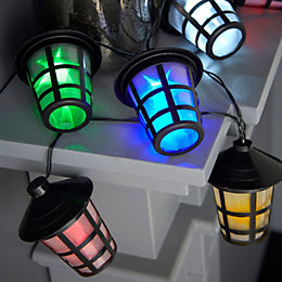 Battery Operated 16 Multicolour LED Lantern with 3D