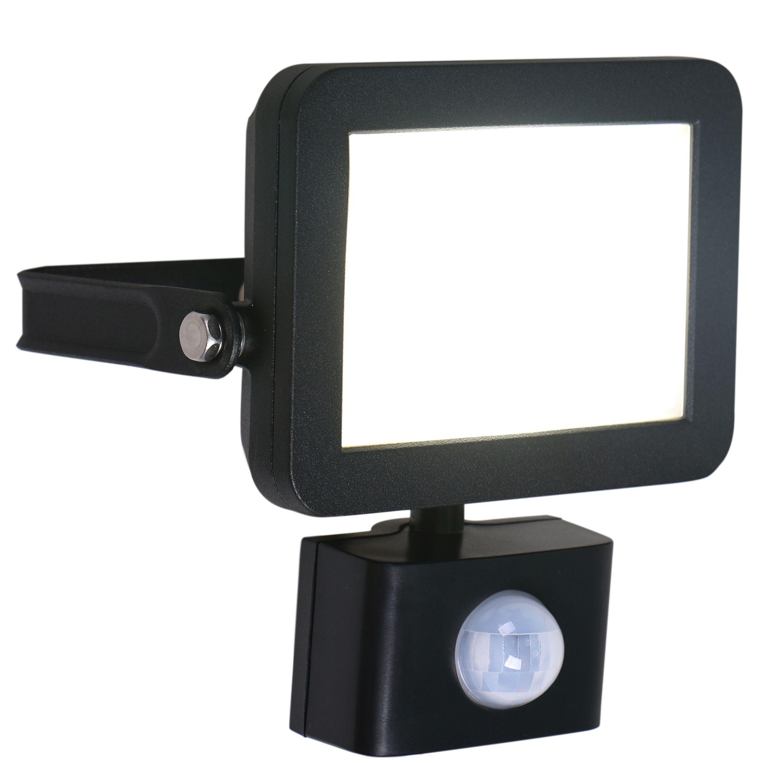 Blooma Telamon Black 12.5w Mains Powered External Pir Security Light