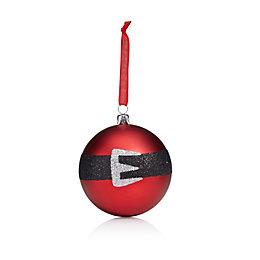 Matt Red & Black Santa Claus Belt Bauble