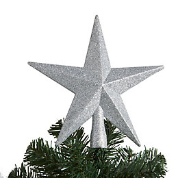 Glitter Silver 3D Star Tree Topper