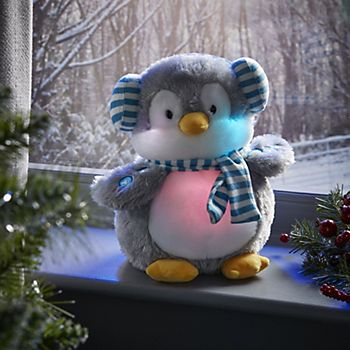 bluetooth penguin toy on a windowsil