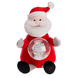 Battery Operated Santa with Snowglobe Tummy Christmas Friend