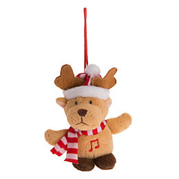 Battery Operated Reindeer Squeezer Christmas Friend