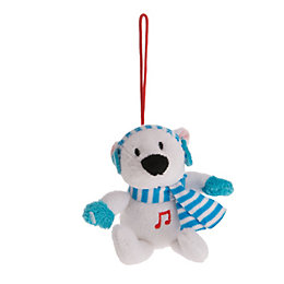 Battery Operated Polar Bear Squeezer Christmas Friend