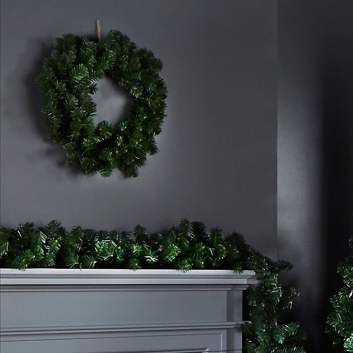 Woodland pine wreath and garland