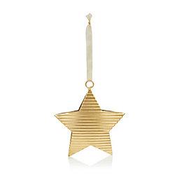 Corrugated Metal Gold Star Tree Decoration