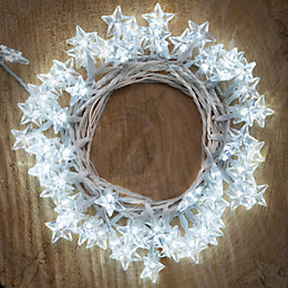 120 Ice White LED Star Lights Light String