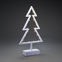 Battery Operated LED Cut Out Tree Table Decoration