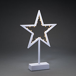 Battery Operated LED Cut Out Star Indoor Silhouette