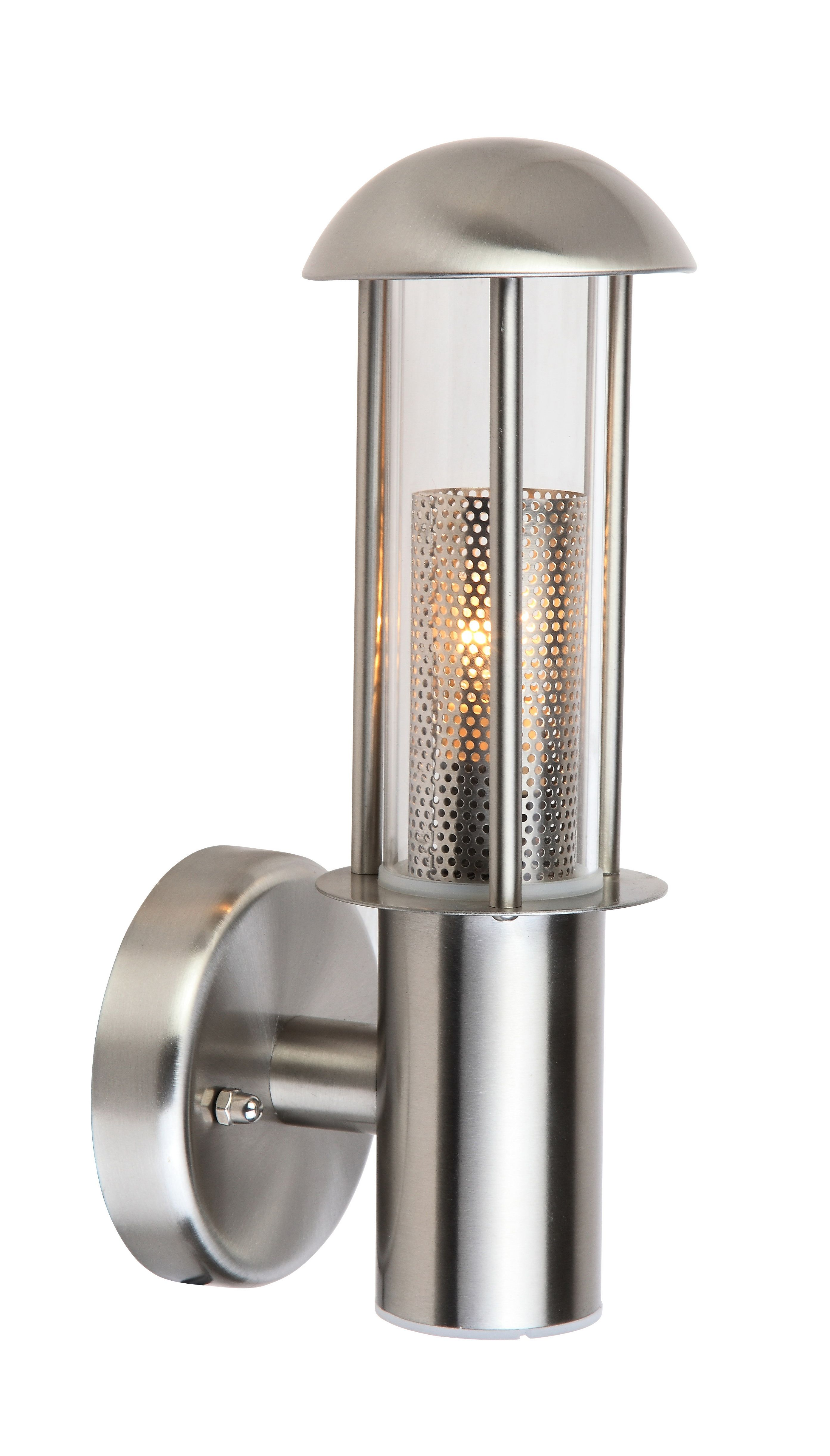 Blooma Tellumo Stainless Steel Silver Mains Powered External Wall Light