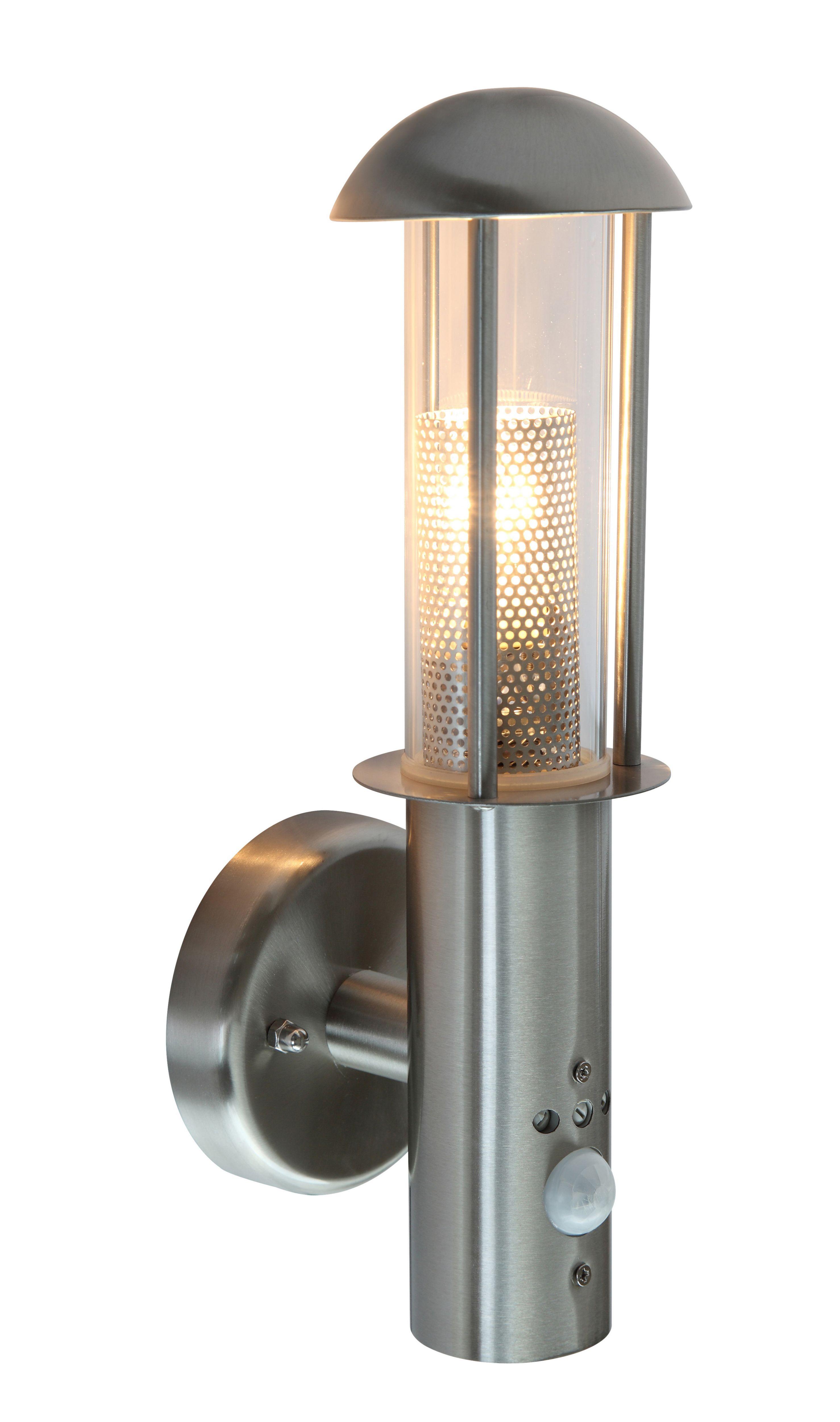 Blooma Tellumo Stainless Steel 28w Mains Powered External Pir Wall Light