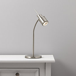 Annisa Silver Satin Chrome Effect Table Lamp