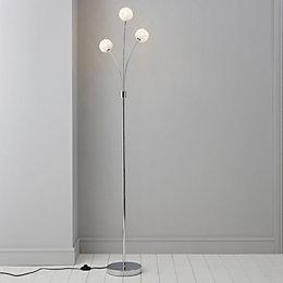 Pallas Chrome Effect Floor Light