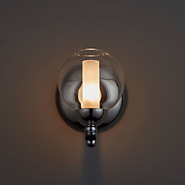 Giselle White Polished Chrome Single Wall Light